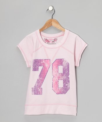 Light Pink '78' Raglan Tee