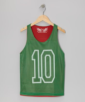Green & Red Reversible Mesh Tank