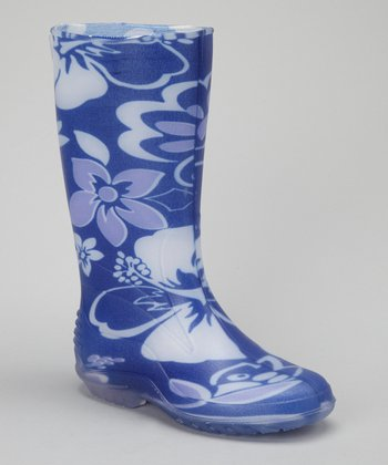 Blue Flower Larissa Rain Boot
