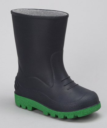 Navy Puddles Rain Boot