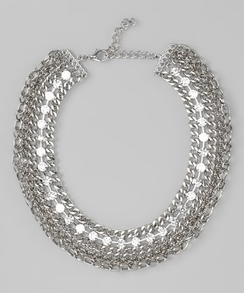 Silver Chain & Crystal Necklace