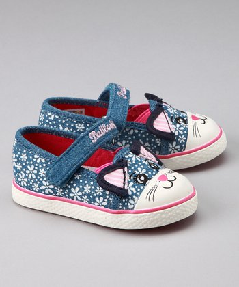 Denim Kitty Shoe - Toddler