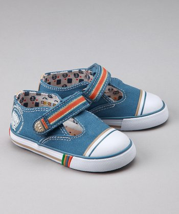 Denim T-Strap Shoe