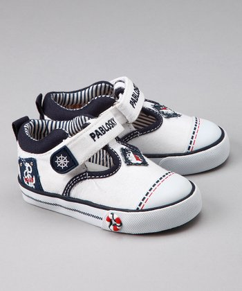 White Sailor T-Strap Shoe