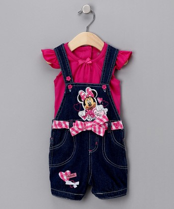 Pink Minnie Top & Overalls - Infant