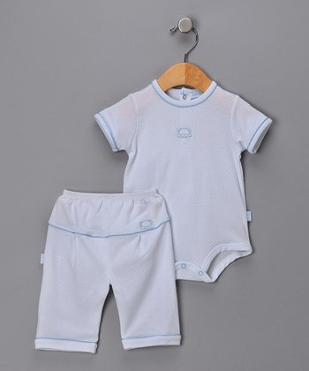 Light Blue Little Bear Bodysuit & Pants