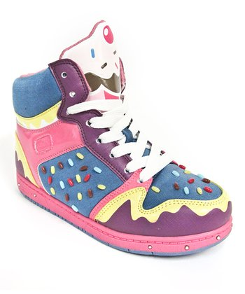 Purple & Pink Sprinkle Hi-Top