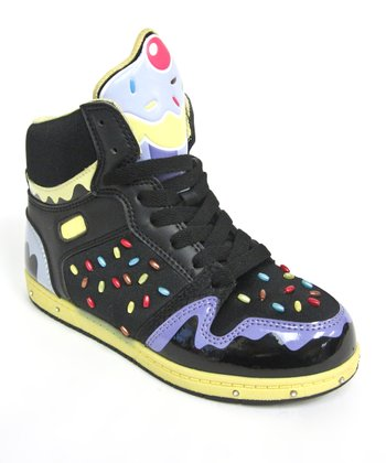 Black & Yellow Sprinkle High-Top
