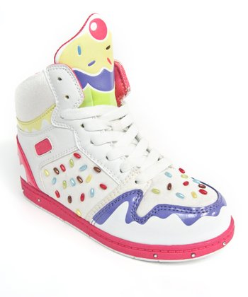 White & Red Sprinkle High-Top