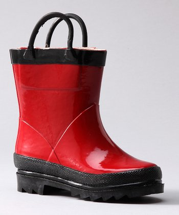Red & Black Rain Boot