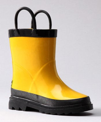 Yellow & Black Rain Boot
