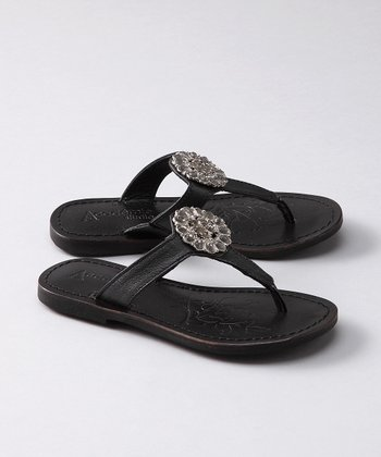 Black Shine Sandal - Toddler & Girls