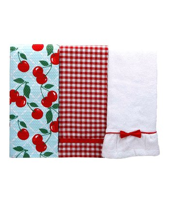 Kitchen Cherry Kitchen Towel Set