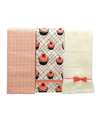 Cherry Cupcake Kitchen Towel Set