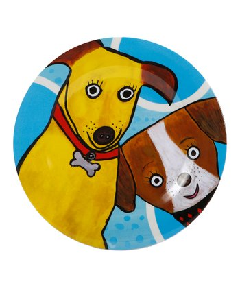 Blue & Brown Go Puppy Go Melamine Plate