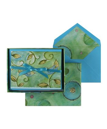 Chirpy Bird Short Fold Note Card Set