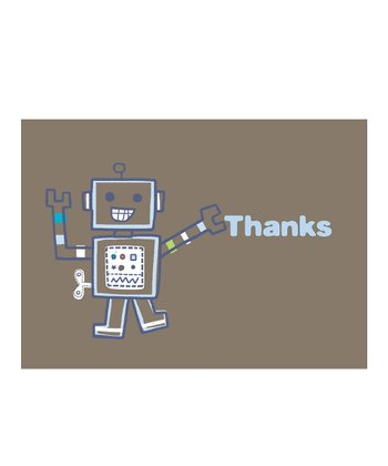 C.R. Gibson Robot Thank You Card Set