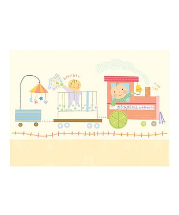 Baby Train Thank You Note Set