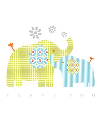 C.R. Gibson Elephants Thank You Card Set