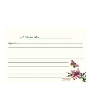 Botanic Garden Small Recipe Card - Set of 240