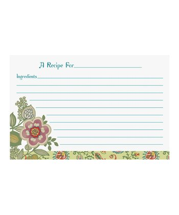 Piccadilly Large Recipe Card - Set of 240