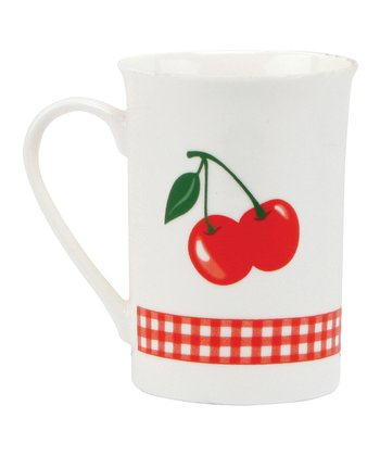 Kitchen Cherry Mug - Set of Two