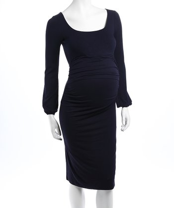 Prussian Blue Valencia Maternity & Nursing Dress - Women