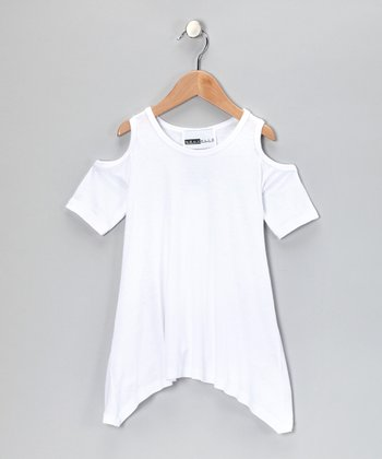 White Cutout Tunic - Toddler & Girls