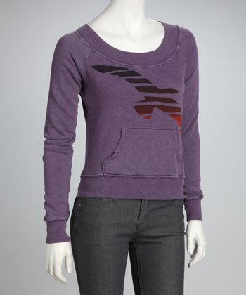 Purple Seagull Sweatshirt