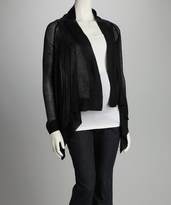 Black Open Cardigan - Women