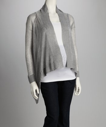 Gray Open Cardigan - Women