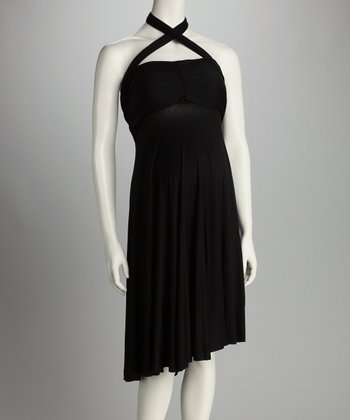 Black Convertible Maternity & Post-Pregnancy Dress - Women