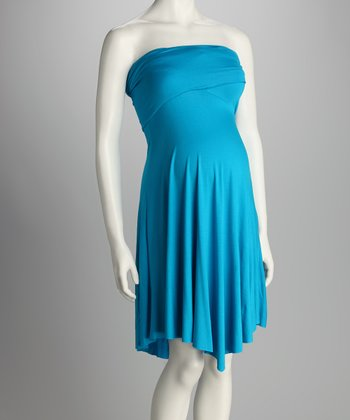Aqua Convertible Maternity Mini Dress - Women