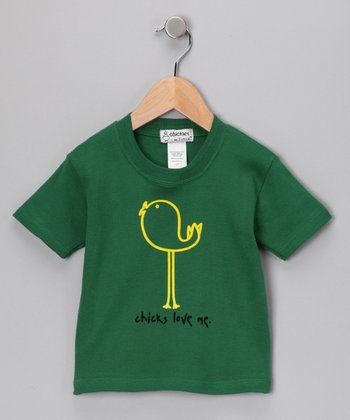 Kelly Green 'Chicks Love Me' Tee - Toddler & Kids