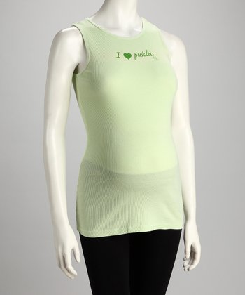 Lime 'Pickles' Maternity Tank - Women
