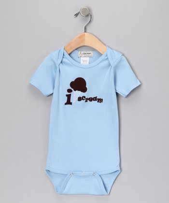 Light Blue 'I Scream' Bodysuit - Infant