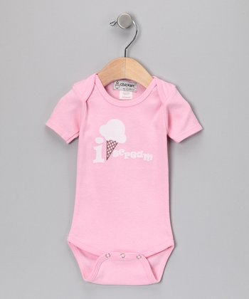 Light Pink 'I Scream' Bodysuit - Infant