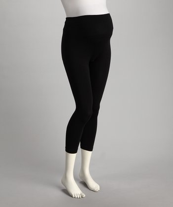 2 chix Black Perfect Over-Belly Maternity Leggings
