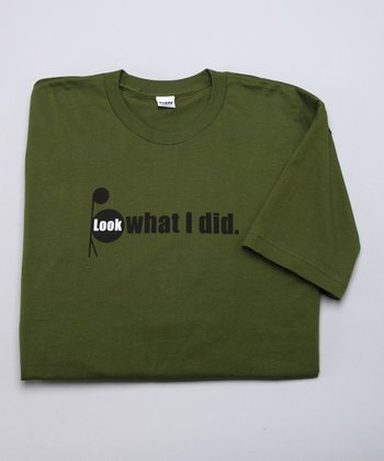 Olive 'Look What I Did' Tee - Men