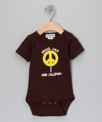 Chocolate 'Peace Love & Lollipops' Bodysuit - Infant