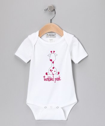 White 'Tickled Pink' Bodysuit - Infant