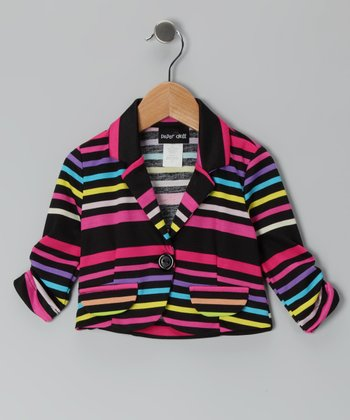 Fuchsia Stripe Jacket - Toddler