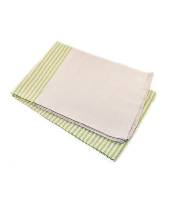White & Green Picnic Blanket