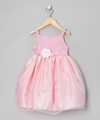 Pink Organza Flower Dress - Infant, Toddler & Girls