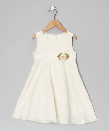 Ivory Flower Dress - Infant, Toddler & Girls