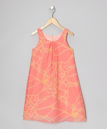 Orange Ripple Dress - Girls
