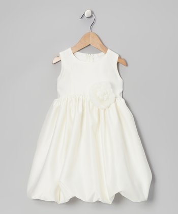 Ivory Flower Bubble Dress - Infant & Toddler