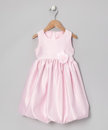 Pink Flower Bubble Dress - Infant & Toddler