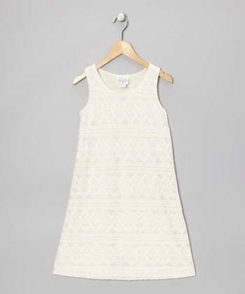 Ivory Lace Dress - Girls