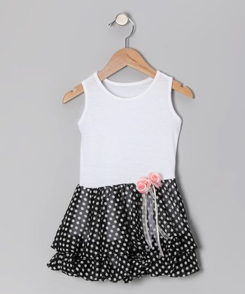 Black & White Polka Dot Bubble Dress - Infant, Toddler & Girls